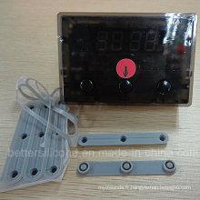 Pavé numérique en caoutchouc de silicone de 1X3 Matrix 3 Keys