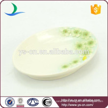 green Sinensis Flower soap dish