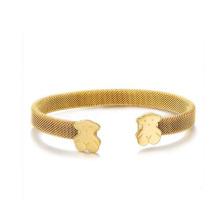 Bracelet de maille d'acier inoxydable de mode, conceptions de bracelet de bijoux de temps d'acier tanishq