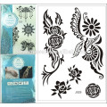 black lace garter tattoos ideas sun flowers fake temporary tattoos special design for adult j029