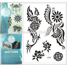 Tatuajes de encaje negro tatuajes ideas sol flores tatuajes temporales falsos diseño especial para adultos j029