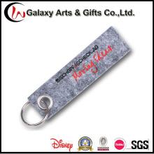 Custom Logo Felt Material Lanyard Short Strap