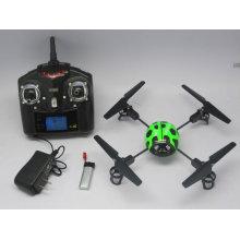 Mini WL V939 4CH 2.4G 3D helicóptero de 4 ejes RC Bettle Ladybird Quadcopter UFO