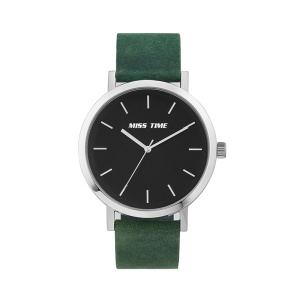 elegance brand soft leather strap big quartz watch