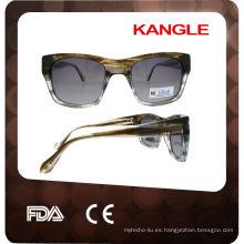 gafas de sol polarizadas de alta calidad del acetato de la moda