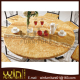 round shape marble dining table with 6 chairs
