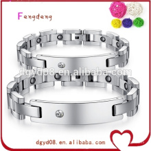 China wholesale fashion magnetic stainless steel bracelet jewelry for couple