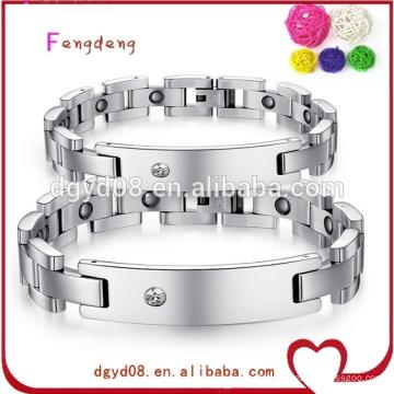 Chine en gros de mode bijoux bracelet en acier inoxydable magnétique pour couple