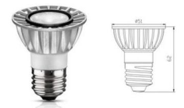 5000k Samsung Chip Cob 6w E27 Gu10 Led Spotlight , No Uv / Ir 60hz