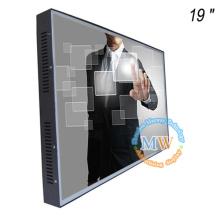Marco abierto 19 pulgadas TFT LCD monitor 12V con pantalla táctil
