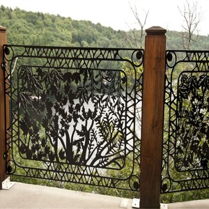 Laser Cut Metal Balkon Panels