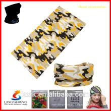 100% poliéster promocional mais popular barato tubo personalizado bandana chapelaria multifuncional