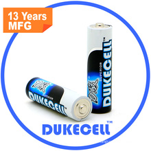 Batería alta de drenaje AA Lr6 1.5V Batería alcalina