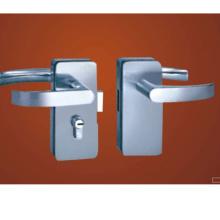 Perno de palanca de aleación de zinc Parche de puerta de vidrio Cerradura con llaves