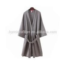 Soft-Touch-Jersey-Stoff offene Spitze Trimmen Bademantel für die Dame