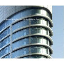 Pared de cortina de cristal exterior estructural de acero de alta calidad