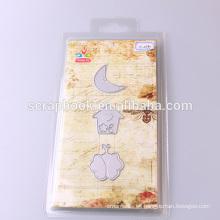 2016 china caliente venta tintas cortes scrapbook de Casa Luna plantilla metálica