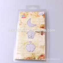 2016 china hot sale die cuts metal stencil moon house scrapbook