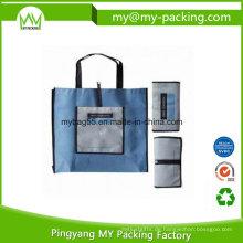 Eco-Friendly Wasserdichte Vliesstoff Reißverschluss Faltbare Tasche