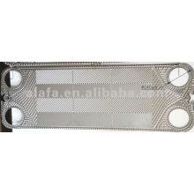 M15 associés plaques d'échangeur à plaques, prix d'échangeur de chaleur à plaques en titane