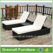 Outdoor Rattan Lounger for Garden