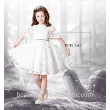 Spitzeblumenmädchenkleidentwurfs-Schaufelausschnitt sleeveless sexies Mädchen im heißen Nachtkleid ED779