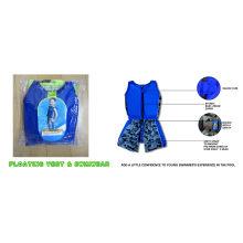 Customized Blue Boys Vest , Child Kids Swim Float Suit Swimwear, Babies Bathing Suits Xs