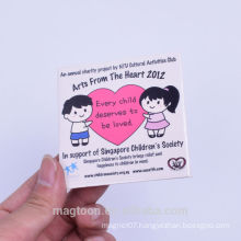 personalized creative lovely boy&girl design tin plate fridge magnets for promotion