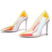 Clear Stiletto High Heels for Women Slip on Sexy Shoes