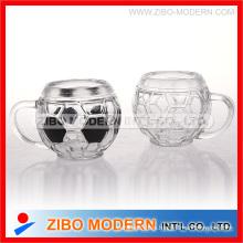 Copa de fútbol de vidrio