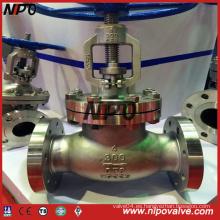 Válvula de globo con brida de acero al carbono o acero inoxidable