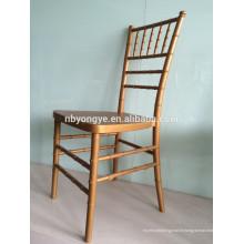 Chaise de tiffany en métal chivari