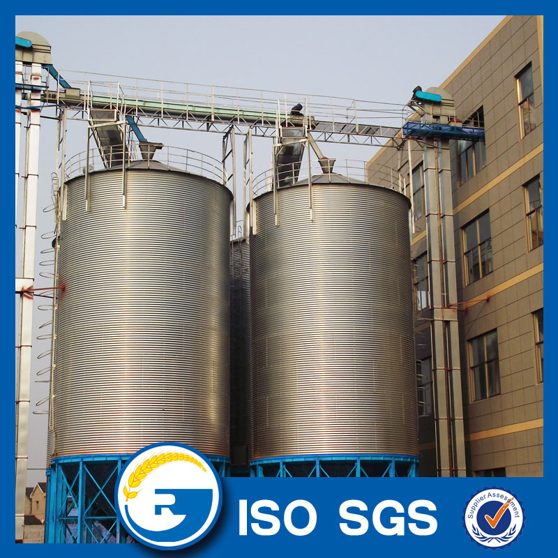 galvanized steel silo with conical bottom