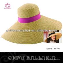 Nuevo sombrero ancho de la playa del verano del borde