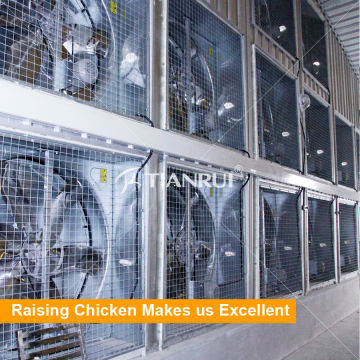 Sistema de ventilador de escape de Farm Farm para aumento de capa