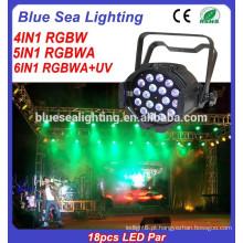 18x10w conduziu a luz do par A luz interna do diodo emissor de luz levou a iluminação do estágio RGBW 4in1