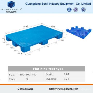 1100X1100 Flat Top Großhandel Kunststoffpalette Preise