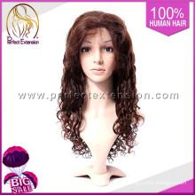 Pelo humano virginal onda profunda barato sintético pelucas delanteras para las mujeres negras