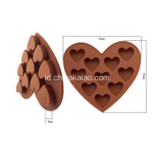 Diy Tool untuk Candy Chocolate Tray Silicone Heart Mold