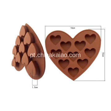 Diy Tool for Candy Chocolate Tray Silicone Heart Mold