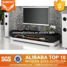 best selling american style wooden leather tv floor stand with led lighting