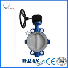 ISO standard stainless steel sanitary butterfly valve with pneumatic actuator