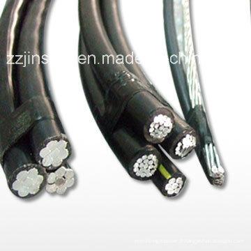 Câbles à antenne isolée XLPE 6.35 / 11, 12.7 / 22, Câble ABC