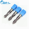 BFL Polishing Ball Nose End Mill For Aluminum Cutting/Carbide Aluminum Milling Bit/Lathe Tooling