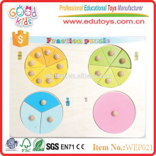 hot new products for 2015 circle fraction wooden educational puzzle