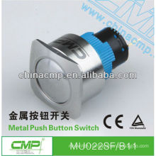 22mm CMP waterproof stainless steel momentary or latching 110 volt push button switches ip67