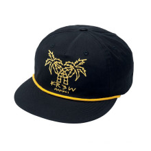 Chapéu de Snapback de alça de couro com padrão floral