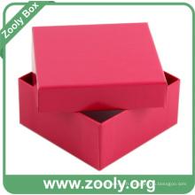 Petite boîte en papier en carton / boîte cadeau en papier rouge (ZC004)