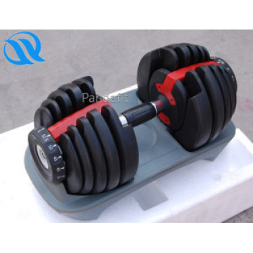 Fitness New Products Rubber Coated Adjustable Dumbbell