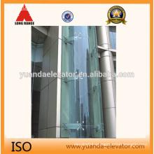 Yuanda elevador de cristal panorámico